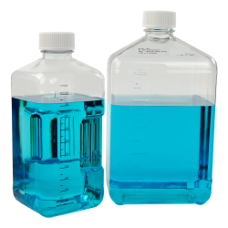 125mL Square Nalgene™ PETG Biotainer™ Bottle with 38mm Cap