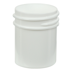 1/2 oz. White Polypropylene Straight Sided Jar with 33/400 Neck (Cap Sold Separately)