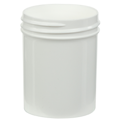 2 oz. Polypropylene Straight Sided White Jar with 48/400 Neck (Cap Sold Separately)
