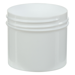 2 oz. White Polypropylene Straight Sided Jar with 53/400 Neck (Cap Sold Separately)