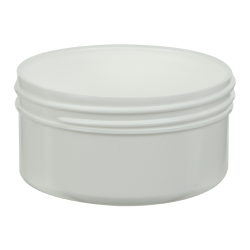 2.5 oz. White Polypropylene Straight Sided Jar with 70/400 Neck (Cap Sold Separately)