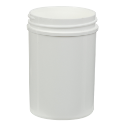 4 oz. Polypropylene Straight Sided White Jar with 53/400 Neck (Cap Sold Separately)