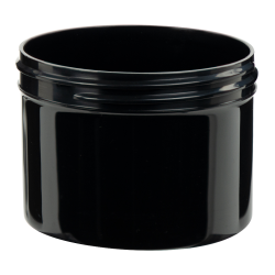 8 oz. Black Polypropylene Thick Wall Straight Sided Jar with 89/400 Neck (Cap Sold Separately)