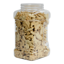 128 oz. Clear PET Plaza Jar with 110mm Neck (Cap Sold Separately)