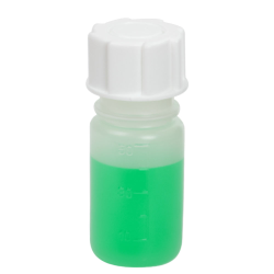 50mL Wide Mouth Graduated Polypropylene Bottle with Cap