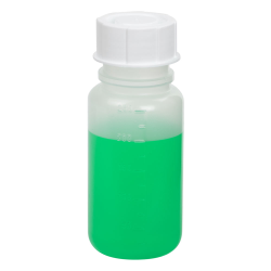 250mL Wide Mouth Graduated Polypropylene Bottle with Cap