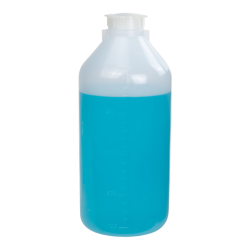 2000mL Narrow Mouth Graduated LDPE Bottle with Cap