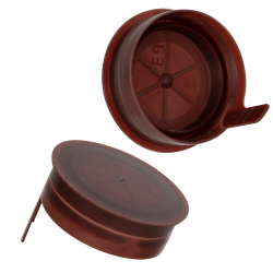 38mm STT Brown LDPE Tamper Evident Snap On Cap