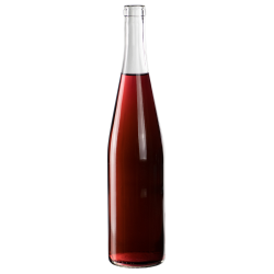 750mL Clear Glass Flat Bottom Bottle w/ Tall Cork Neck