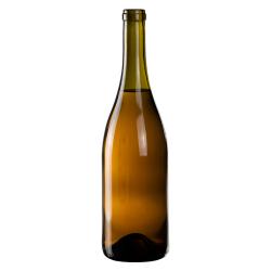 750mL Dead Leaf Glass Punt Bottom Bottle w/ Tall Cork Neck