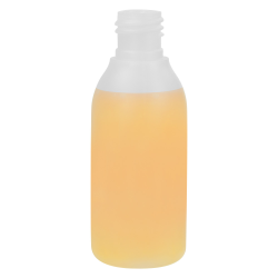 2.54 oz./75mL Natural Tall Round HDPE Bottle with 20/415 Neck (Cap Sold Separately)