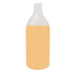 13.53 oz./400mL Natural Tall Round HDPE Bottle with 24/415 Neck (Cap Sold Separately)