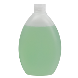 250mL Natural Pluto Oval HDPE Bottle with 24/410 Neck (Cap Sold Separately)