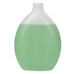 13.53 oz./400mL Natural Pluto Oval HDPE Bottle with 24/410 Neck (Cap Sold Separately)