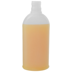 8.45 oz./250mL Natural Fluted Oval HDPE Bottle with 24/415 Neck (Cap Sold Separately)