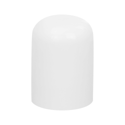 20/415 White Polypropylene Tall Dome Cap with Bore Seal