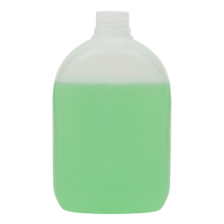 500mL Natural HDPE Arched Rectangular Bottle with 28/410 Neck (Cap Sold Separately)