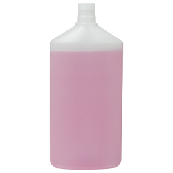 16.91 oz./500mL Natural HDPE Daily Flat Oval Bottle with 24/415 Neck (Cap Sold Separately)