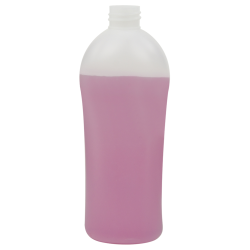 16.91 oz./500mL Natural HDPE Allure Oval Bottle with 28/410 Neck (Cap Sold Separately)