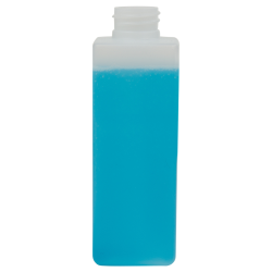 250mL Natural HDPE Tall Square Bottle with 28/410 Neck (Cap Sold Separately)