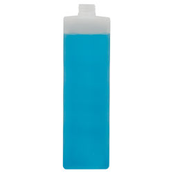 1000mL Natural HDPE Tall Square Bottle with 28/410 Neck (Cap Sold Separately)