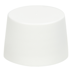 22/410 Polypropylene Tapered Cap with Smooth Sides