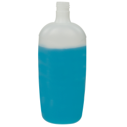 33.81 oz./1000mL Natural Regency Oval HDPE Bottle with 28mm Neck (Cap Sold Separately)