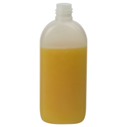 150mL European Oval HDPE Bottle with 20/415 Neck (Cap Sold Separately)