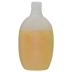 6.76 oz./200mL Natural Hathaway Oval HDPE Bottle with 24/415 Neck (Cap sold separately)