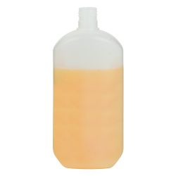 16.91 oz./500mL Saturn Oval HDPE Bottle with 24/415 Neck (Cap Sold Separately)