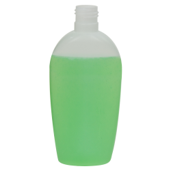 6.76 oz./200mL Natural Almond Oval HDPE Bottle with 24/415 Neck (Cap Sold Separately)