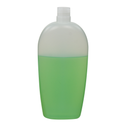 11.83 oz./350mL Natural Almond Oval HDPE Bottle with 24/415 Neck (Cap Sold Separately)