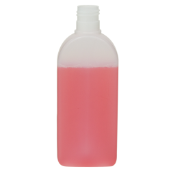 6.76 oz./200mL Natural Santos Rectangular HDPE Bottle with 24/415 Neck (Cap Sold Separately)