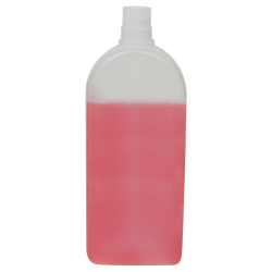 400mL Natural Santos Rectangular HDPE Bottle with 24/415 Neck (Cap Sold Separately)