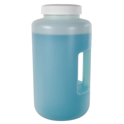 4 Liter Diamond ® RealSeal™  HDPE Large Format Round Bottle with 100mm Cap and Handle