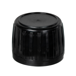 Black Tamper Evident Screw Cap with Foam/Aluminum Liner for AP28 Bottle