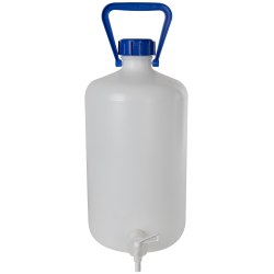 10L Kartell Heavy Walled Narrow Mouth HDPE Carboy with Spigot