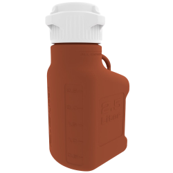 2.5 Liter Amber EZgrip ® HDPE Carboy with 83mm Closed Cap
