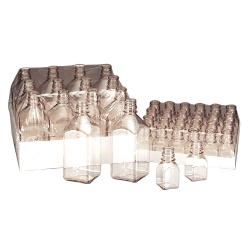 30mL Nalgene™ Sterile Square PETG Media Bottle with 20/415 Neck (Cap Sold Separately)