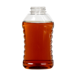 16 oz. Ribbed Hourglass Sauce Bottle with 38/400 Neck (Cap Sold Separately)