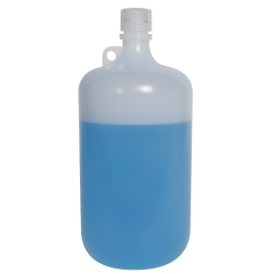 4 Liter Diamond ® RealSeal™ LDPE Large Format Round Bottle with 38/430 Cap