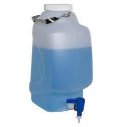 10 Liter Diamond ® RealSeal™ Rectangular Polypropylene Carboy with Spigot
