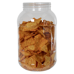 135 oz. Clear PET Jar with 110/400 Neck (Caps Sold Separately)