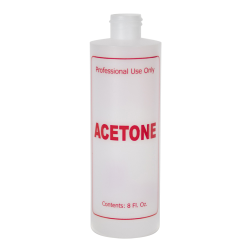 8 oz. Natural HDPE Cylinder Bottle with 24/410 Neck & Red