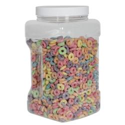 128 oz. Clear PET Square Pinch Grip-It Jar with 120/400 Cap