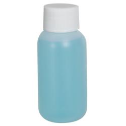 1 oz. HDPE Natural Boston Round Bottle with 20/410 Plain Cap