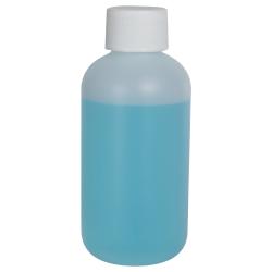4 oz. HDPE Natural Boston Round Bottle with 24/410 Plain Cap