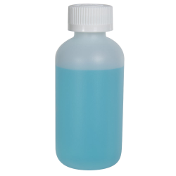 4 oz. HDPE Natural Boston Round Bottle with 24/410 CRC Cap
