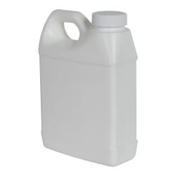 16 oz. White Fluorinated F-Style Jug with 33/400 Plain Cap