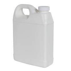 32 oz. White Fluorinated F-Style Jug with 33/400 Plain Cap
